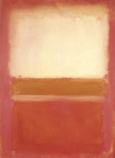 White, Pink and Mustard by Mark Rothko