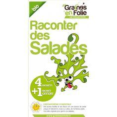 Coffret de graines de salades bio à 11.00 € sur www.semences-bio.com