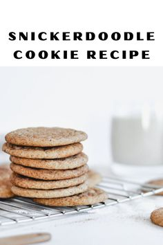 The best chewy dairy-free snickerdoodle cookies rolled in cinnamon sugar. The perfect afternoon sweet treat! Cookie Tray, Cookie Dough, Quick Rolls, Dairy Free Cookies, Snicker Doodle Cookies, Drop Cookies, Brown Sugar, Baking Soda, Cookie Recipes