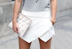 www.collagevintage.com  #fashion #style #collagevintage #fashionblogger #outfit #look  #zara #skort