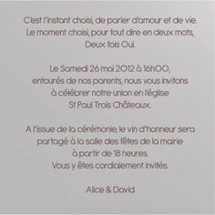 Joli Texte D'anniversaire Best Of Joli Texte original Faire Part Mariage French Wedding, Wedding Book, Wedding Day, Dream Wedding, Fun Wedding Invitations, Invitation Cards, Holiday Cocktails, Cakes And More, Eat Cake
