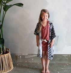 {009} - Ocean handmade children's vintage inspired kimono.  Perfect kids kimono for summer fashion.