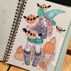 What a long day 😪 Cartoon Drawings, Cool Drawings, Character Art, Character Design, Witch Art, Daily Drawing, Marker Art, Halloween Art, Anime Chibi