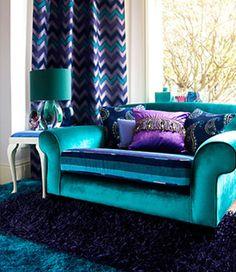 marvellous purple teal bedroom ideas | Decorating With Turquoise, Teal and Purple | Ruins, Jewel ...