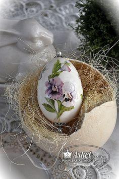 jajko gęsie decoupage klasyczny