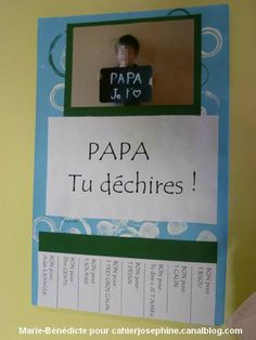 Des petits riens qui font beaucoup Fathers Day Crafts, Gifts For Father, Happy Fathers Day, Diy For Kids, Crafts For Kids, Classroom Crafts, Working With Children, Mother And Father, Creative Gifts