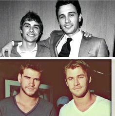 The Franco Brothers vs. The Hemsworth Brothers. there couldnt be more attractiveness in one picture...