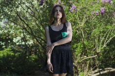 Black#Shiny#Skirt#Top#Green#Pocket http://on.fb.me/1lwh3Wf