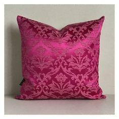 Cushion-Cover-Original-Vintage-60s-Pink-Fabric-16-x-16-VW-Mod
