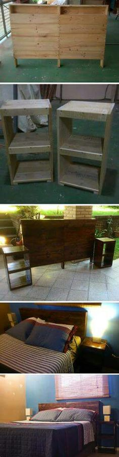 Proyecto cabecera - palets Bedhead project - pallets