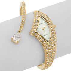 Beautiful gold and diamond watch.