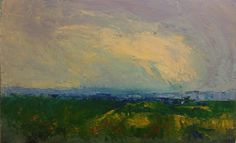 Invented Abstract Landscape by Fritz Jooste (Oil on Panel, approximately 45 x 30 cm)