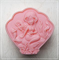 Pearl mermaid S220 Silicone Soap mold Craft Molds DIY Handmade soap mould