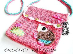 Little hedgehog crochet purse pattern