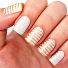Distressed Stripped Nails Tutorial | AmazingNailArt.org
