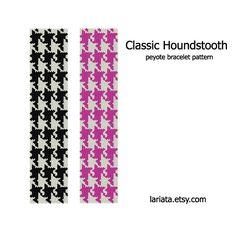 Classic Houndstooth Peyote Bracelet Pattern INSTANT