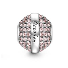 Soufeel Birthstone Swarovski Crystal Charm 925 Sterling Silver Beads Fit European Bracelet ** You can get more details by clicking on the image.