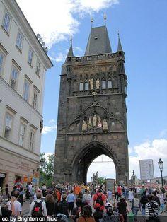 prague travel - gate to charles bridge