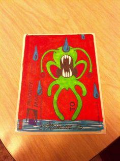 Rawr #slaps #theartistgrimm #grimm #art #stickerartist #stickers #aliens #skullyfish