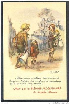 PH172 a/s POULBOT MISERY POVERTY CHILDREN PUB Advertising BLEDINE JACQUEMAIRE