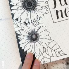 coffee + scribbles is home to botanical illustration and design. Flower Art Drawing, Flower Drawing Tutorials, Doodle Art Drawing, Flower Sketches, Pencil Art Drawings, Cool Art Drawings, Art Tutorials, Black Pen Drawing, Drawing Hands