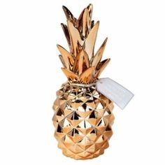Ananas Pineapple Métalisé - Déco de table de Fête - Ambiance Tropical