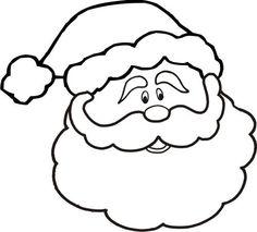 CHRISTMAS, SANTA FACE CLIP ART