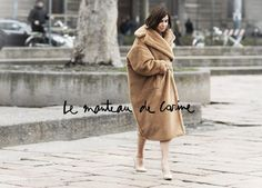 Le Manteau De Carine - I found it interesting that in a season where you see so much fur in the shows, the focus of Carine's outfit the other day was an gigantic fake fur coat, straight out of the Max Mara show. I also love the look itself, this nude, almost out of bed effect... But it's true the coat really caught my...