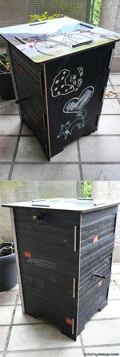 Die Künstlerin: Claudia aus Konstanz – Recycling-Hocker mit Fahrradschläuchen