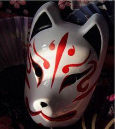 Details about Japan Anime Full Face Hand-Painted Japanese Fox Mask Kitsune Cosplay Masquerade Masks Japanese Fox Mask, Japanese Animals, Anime Mascaras, Kitsune Maske, Mascara Hannya, Desu Desu, Japanese Party, Japanese Style, Petit Tattoo