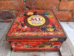 Vintage Macfarlane Lang Assorted Xmas Christmas Biscuit Tin Glasgow & London | eBay