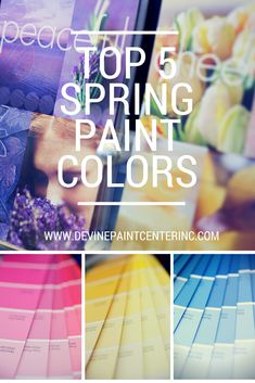 I don't know about you, but I am inspired by color. That's why I would like to share our top 5 spring paint colors. :: Devine Paint Center Blog
