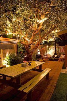 50 handsome backyard lighting decor ideas and remode | 1000 Backyard Patio Designs, Small Backyard Landscaping, Diy Patio, Patio Ideas, Backyard Ideas, Landscaping Ideas, Small Patio, Garden Ideas, Porch Ideas