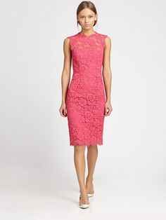Tonal Lace Dress -  by Valentino - Loverly