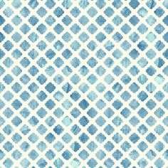 Showcasing a watercolor-inspired tile motif, this classic wallpaper brings a stylish touch to any room. Make a chic statement on an accent wall, or let it ad...