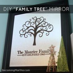 Becoming Martha: DIY Family Tree Mirror