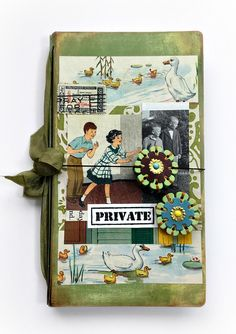 HeARTfelt Handmade Journal Ideas: Travelers Journal with Vintage Images by Michelle Zerull