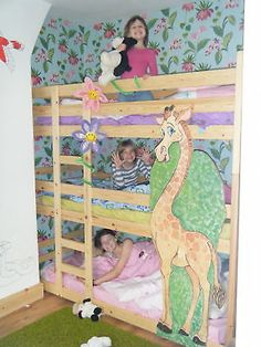 Triple bunk beds. Tri Bunk bed. 3 High Bunk Beds. Two widths can be made shorter
