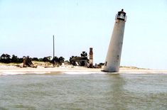 Cape St. George Lighthouse prior to reconstruction (1999).   Florida Memory