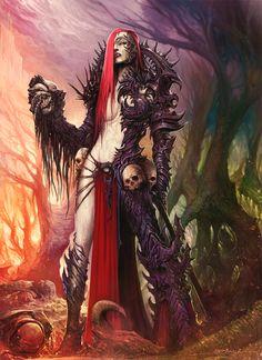Random Fantasy/RPG artwork I find interesting,(*NOT MINE) from Tolkien to D&D. Fantasy Art Women, Dark Fantasy Art, Fantasy Girl, Fantasy Artwork, Dark Art, Warhammer 40k Art, Warhammer Fantasy, Arte Obscura, Ange Demon