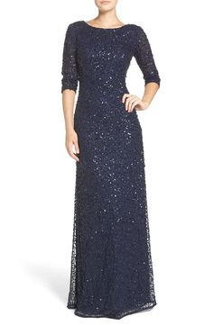 Free shipping and returns on Adrianna Papell Sequin Mesh Gown at Nordstrom.com. Sparkling embellishments swirl around a wildly flattering three-quarter-sleeve gown that flares toward the trailing fishtail hem.