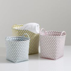 Set of 3 Rounded Woven Baskets with Handles La Redoute Interieurs | La Redoute Mobile