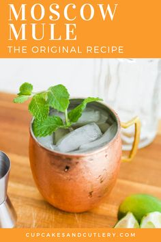 Looking for the best Moscow Mule recipe? This classic cocktail is easy to make and needs just a few ingredients! It's the perfect signature drink idea for parties! drink ideas The Best Moscow Mule Best Moscow Mule, Moscow Mule Drink, Drinks Alcohol Recipes, Cocktail Recipes, Drink Recipes, Vodka Cocktail, Signature Cocktail, Summer Drinks, Fun Drinks