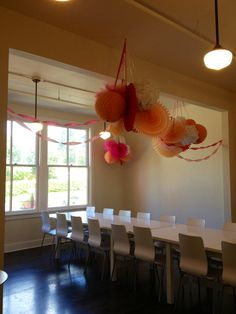 Party room at Trophy Cupcakes Wallingford, Seattle.