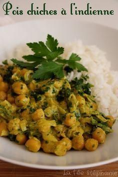 Indian Chickpeas Spices And Coconut Milk Cuisine Indienne