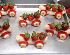 Erdbeer-Bananen-Autos