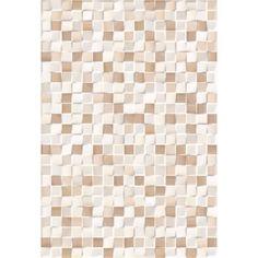 Placa ceramica pentru pereti interiori Cubic crema, glazura lucioasa
