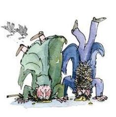 the twits by roald dahl, illustration by quentin blake Roald Dahl The Twits, Roald Dahl Day, Roald Dahl Books, Best Children Books, Childrens Books, Roald Dahl Characters, Book Characters, Roald Dahl Activities, Quentin Blake Illustrations