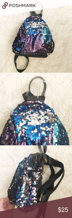 CoachHELLYA Leather Sparkled Backpack New without tags, still has original wrapping. So cute and in perfect condition! Awesome for coachella or a rave! Not actually Wikdfox, I bought it at a Pop up shop that sold Wildfox so it has that vibe, I'm not sure what the brand is Wildfox Bags Backpacks