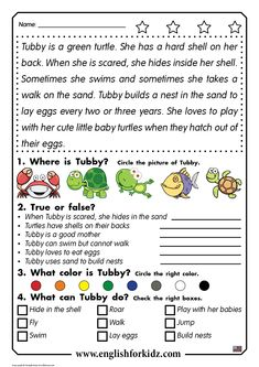 Reading comprehension passage for beginning English learners Reading comprehension passage for children learning English in elementary school – grade grade First Grade Reading Comprehension, Grade 1 Reading, Reading Comprehension Worksheets, Comprehension Strategies, Reading Response, Guided Reading, Learning English For Kids, English Worksheets For Kids, English Lessons For Kids